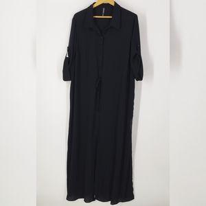 Torrid Maxi Shirt Swim Cover Up Dress 3X